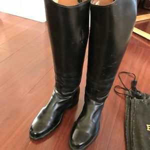 """18"""" Tall Leather Riding Boots by Dehner"""